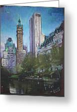 Nyc Central Park 2 Greeting Card by Ylli Haruni