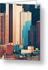 Nyc Colors And Lines II Greeting Card