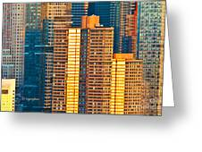 Nyc Colors And Lines IIi Greeting Card