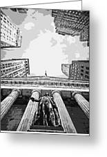 Nyc Looking Up Bw6 Greeting Card