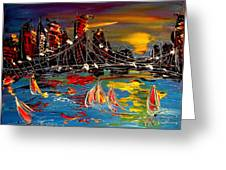 Nyc Night Greeting Card