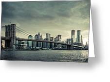 Nyc Skyline In The Sunset V2 Greeting Card