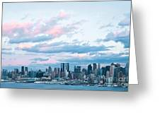Nyc Sundown Blue II Greeting Card
