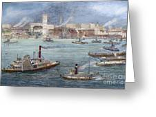 Nyc: The Battery, 1884 Greeting Card