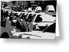 Nyc Traffic Bw3 Greeting Card