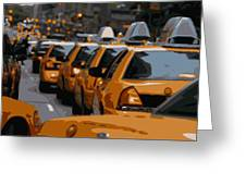 Nyc Traffic Color 16 Greeting Card