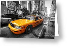 Nyc Yellow Cab Greeting Card
