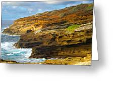 Oahu Coastline Greeting Card
