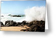 Oahu North Shore Breaker Greeting Card