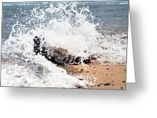 Oahu North Shore Splash Greeting Card
