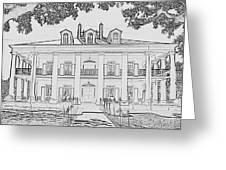 Oak Alley Sketch Greeting Card
