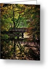 Oak Bridge In Fall Greeting Card