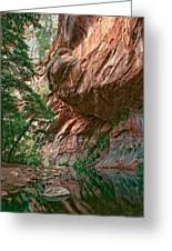 Oak Creek Canyon Walls Greeting Card