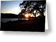 Oak Tree Sunset Greeting Card