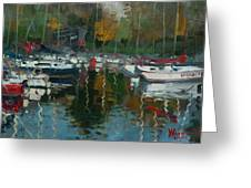 Oakville Harbour On Greeting Card