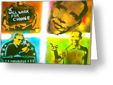 Obama Squared Greeting Card by Tony B Conscious