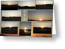 Obx North Carolina Sunsets Greeting Card