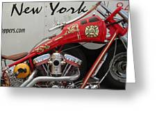 Occ Fdny Motorcycle Greeting Card