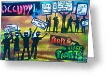 Occupiers Unite Greeting Card