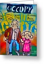 Occupy The Young And Old Greeting Card