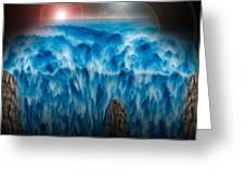 Ocean Falling Into Abyss Greeting Card