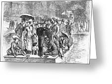 Ocean Grove Ferry, 1878 Greeting Card