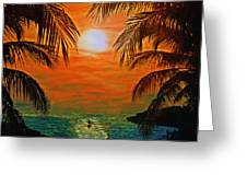 Ocean Kayaker Greeting Card