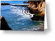 Ocean Lines Greeting Card