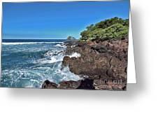 Ocean Meets Lava Greeting Card by Bette Phelan