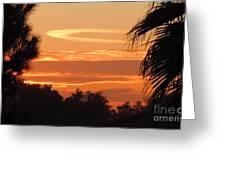 Ocean Of Heavenly Fire Greeting Card