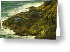 Ocean Pounded Rock  Greeting Card