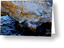 Shell Beach Ocean Tunnel Greeting Card
