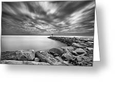 Oceanside Harbor Jetty 2 Greeting Card by Larry Marshall