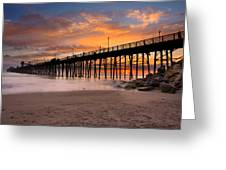Oceanside Sunset 7 Greeting Card