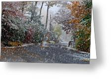 October Blizzard Greeting Card
