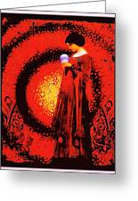 October Moon Greeting Card by Janiece Senn