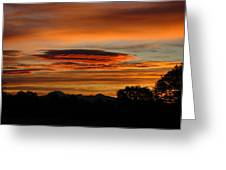 October's Colorful Sunrise 2 Greeting Card