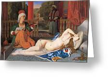 Odalisque With Slave Greeting Card by Jean-August-Dominique Ingres