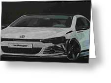 Oettinger Vw Scirocco  Greeting Card
