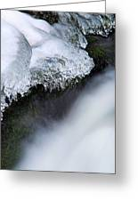 Of Ice And Water Greeting Card