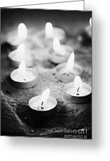 Offering Candles Burning In A Church Greeting Card