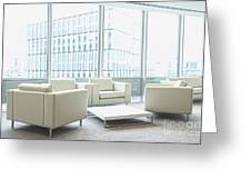 Office Interior Greeting Card