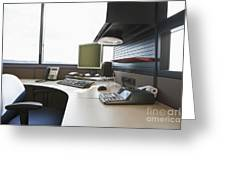 Office Work Station Greeting Card by Jetta Productions, Inc