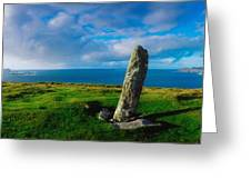 Ogham Stone, Dunmore Head, Dingle Greeting Card