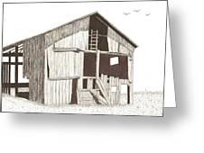 Ohio Barn Greeting Card by Pat Price