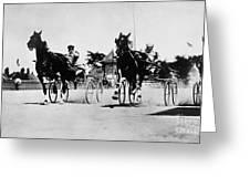 Ohio: Horse Race, 1904 Greeting Card