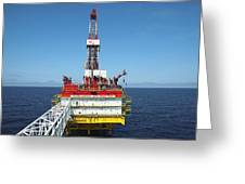 Oil Production Rig, Baltic Sea Greeting Card