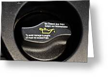 Oil Valve Cap Greeting Card