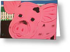Oink Greeting Card