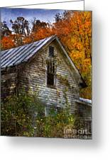 Old Abandoned House In Fall Greeting Card